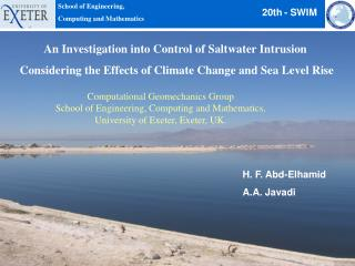 An Investigation into Control of Saltwater Intrusion  Considering the Effects of Climate Change and Sea Level Rise