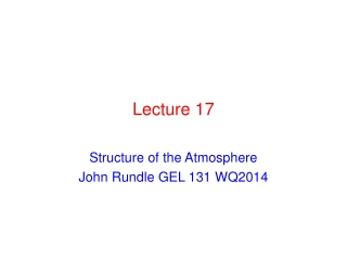Topic  15  OZONE DEPLETION IN THE STRATOSPHERE