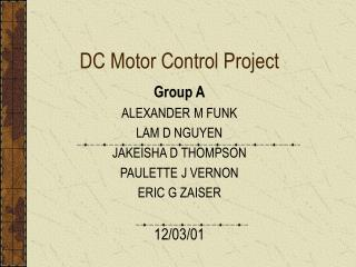 DC Motor Control Project