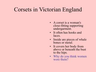 Corsets in Victorian England