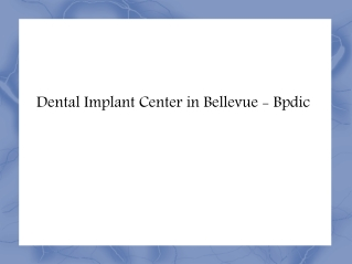 All on Four Seattle | Dental Crowns and Bridges - Bpdic