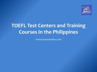 TOEFL Test Centers in the Philippines