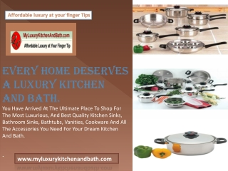 Buy best copper products with myluxurykitchenandbath.com