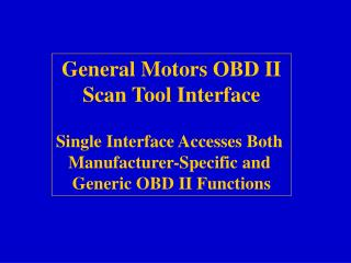 GM Scan Tool