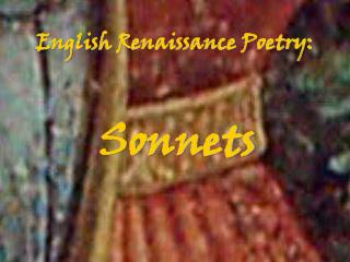 English Renaissance Poetry: