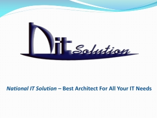 NITS – Best Architect For All Your IT Needs