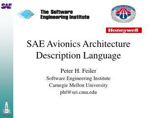 SAE Avionics Architecture Description Language
