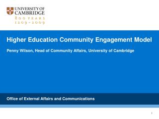 Higher Education Community Engagement Model