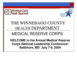 THE WINNEBAGO COUNTY  HEALTH DEPARTMENT