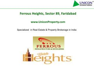 residential projects faridabad|09999561111|ferrous heights