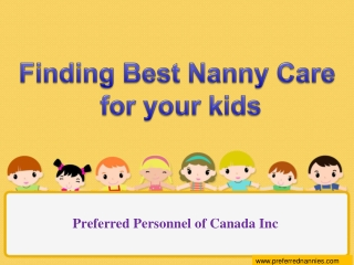 Finding Best nannies services