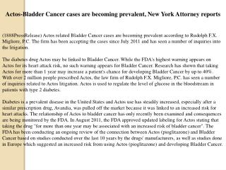actos-bladder cancer cases are becoming prevalent, new york