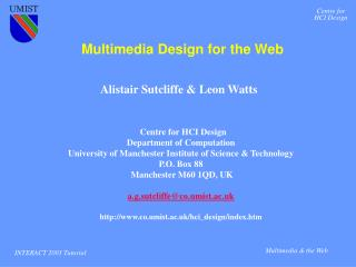 Multimedia Design for the Web
