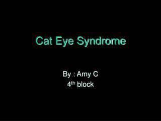 Cat Eye Syndrome