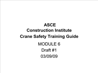 asce  construction institute crane safety training guide