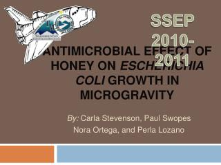 Antimicrobial Effect of Honey  On  Escherichia  coli growth in Microgravity