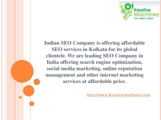SEO Company Kolkata Offers SEO Services In India