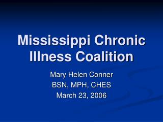 Mississippi Chronic Illness Coalition