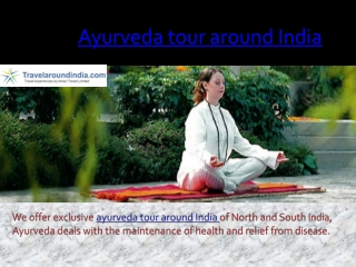 Ayurveda tour around india