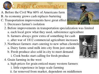 XXX. Rural Communities