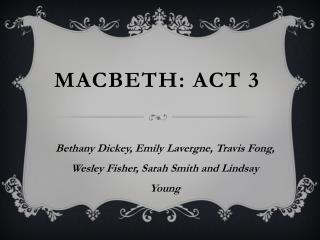 Macbeth: Act 3