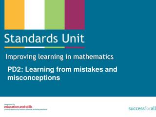 PD2: Learning from mistakes and misconceptions