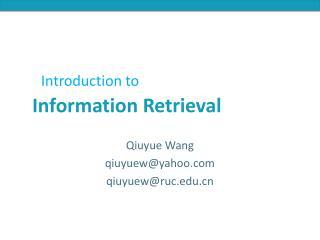 Qiuyue Wang qiuyuew@yahoo.com qiuyuew@ruc.edu.cn