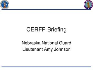 CERFP Briefing
