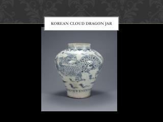 Korean Cloud Dragon Jar