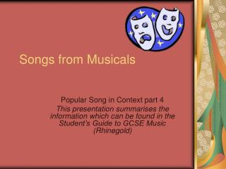 Songs from Musicals