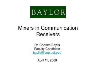Mixers in Communication Receivers
