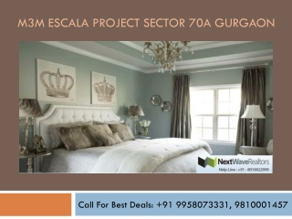 M3M Escala Project Sector 70A Gurgaon