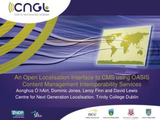 An Open Localisation Interface to CMS using OASIS Content Management Interoperability Services
