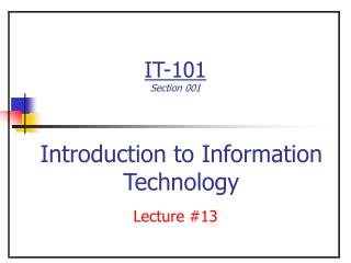 Lecture #13