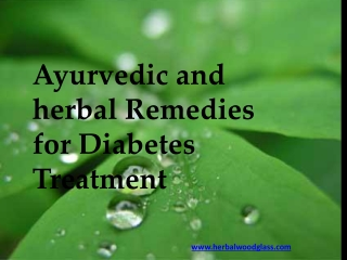 Ayurvedic and herbal Remedies for Diabetes Treatment
