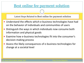 PPt of Best online fee payment solution