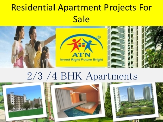 Residential apartment projects for sale