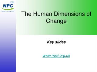 The Human Dimensions of Change