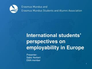 International students' perspectives on  employability in Europe