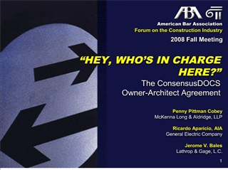 american bar association forum on the construction industry
