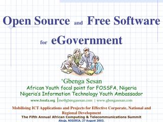 Open Source and Free Software for eGovernment