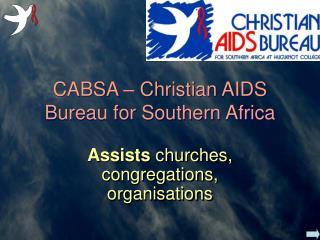 CABSA – Christian AIDS Bureau for Southern Africa
