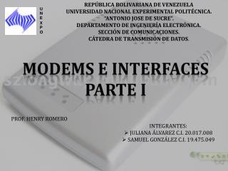 Modems e Interfaces Parte I