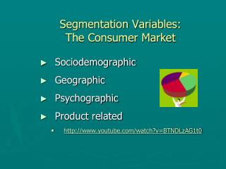 Segmentation Variables: The Consumer Market