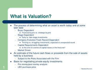 What is Valuation