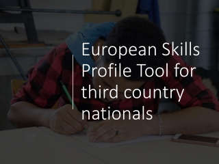 European Skills Profile Tool for third country nationals