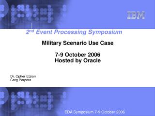 2 nd Event Processing Symposium