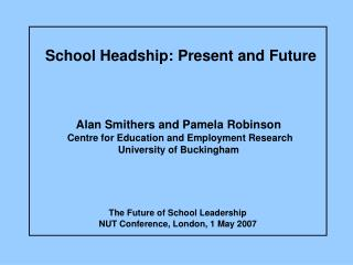 School Headship: Present and Future