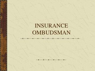 INSURANCE OMBUDSMAN