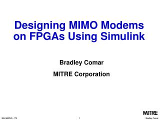Designing MIMO Modems on FPGAs Using Simulink